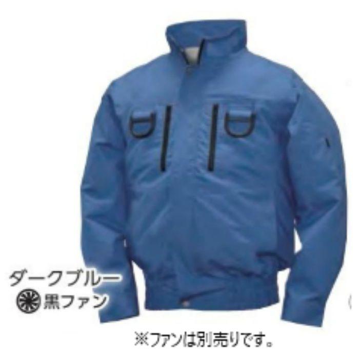 NA-213 NSPオリジナル空調服 綿/タチエリ/フルハーネス仕様  補強無 服単品 ダークブルー 4L