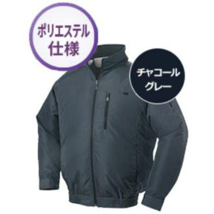 NA-301 NSPオリジナル空調服 ポリエステル/タチエリ仕様 補強無 服単品 チャコールグレー 3L