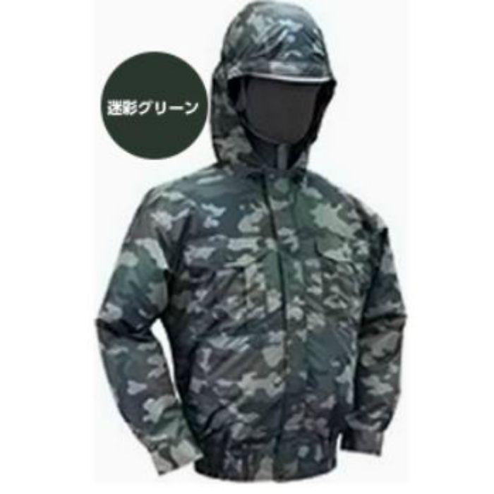 NB-102 NSPオリジナル空調服 迷彩/チタン/フード仕様 補強無 服単品 迷彩グリーン M