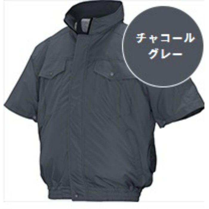 ND-111 NSPオリジナル空調服 チタン/タチエリ仕様 補強有 半袖 服単品 チャコールグレー L