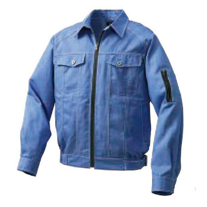 1960B22 綿・ポリ混紡デニム調空調服TM(大容量バッテリーセット) ライトブルー・ブラックファン M