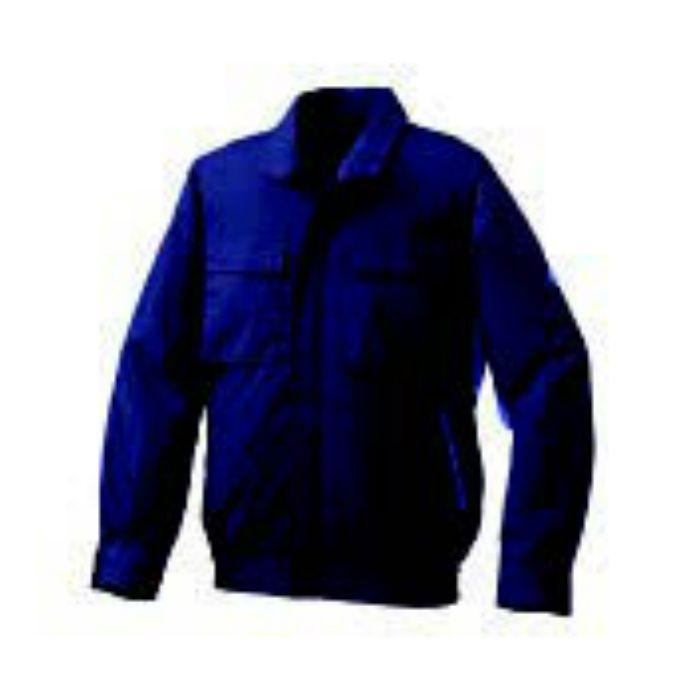 1910B20 綿・ポリ混紡脇下マチ付きⅡ空調服TM(電池ボックスセット) ネイビー×ブルー・ブラックファン 4L