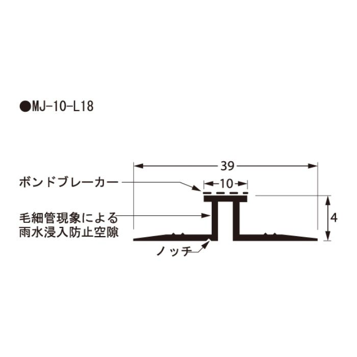 MJ-10-L18 樹脂製目地ジョイナー