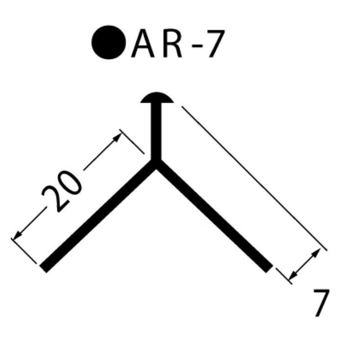 AR-7-GY 左官資材 埋込み定木 7丸