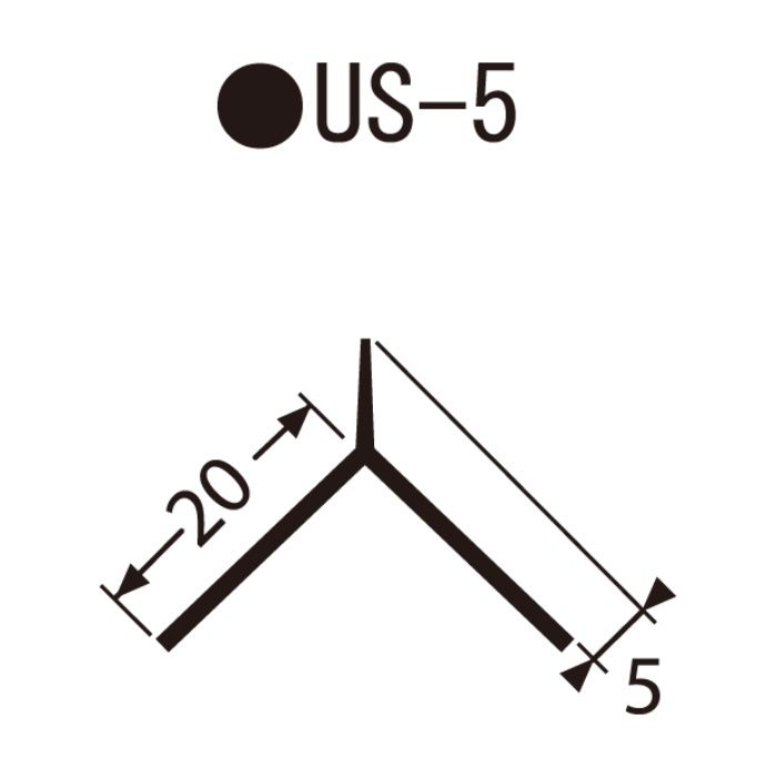 US-5 左官資材 埋込み定木 7角
