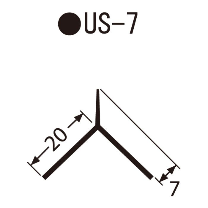 US-7 左官資材 埋込み定木 10角