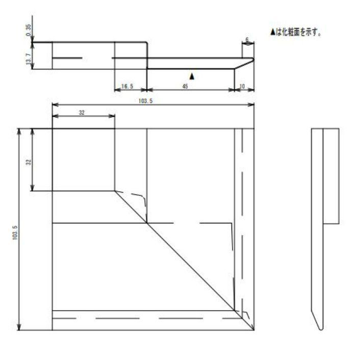 FV-N08FSI-AG 防火対応 軒天換気材(軒先タイプ) 入隅 アンバーグレー