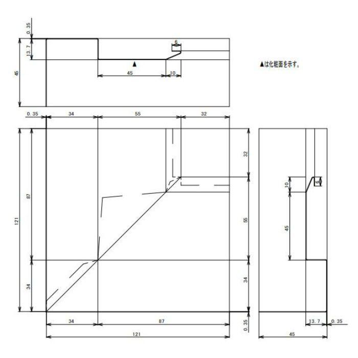 FV-N0835KFSI-BK 防火対応 軒天換気材(壁際タイプ) 入隅 ブラック