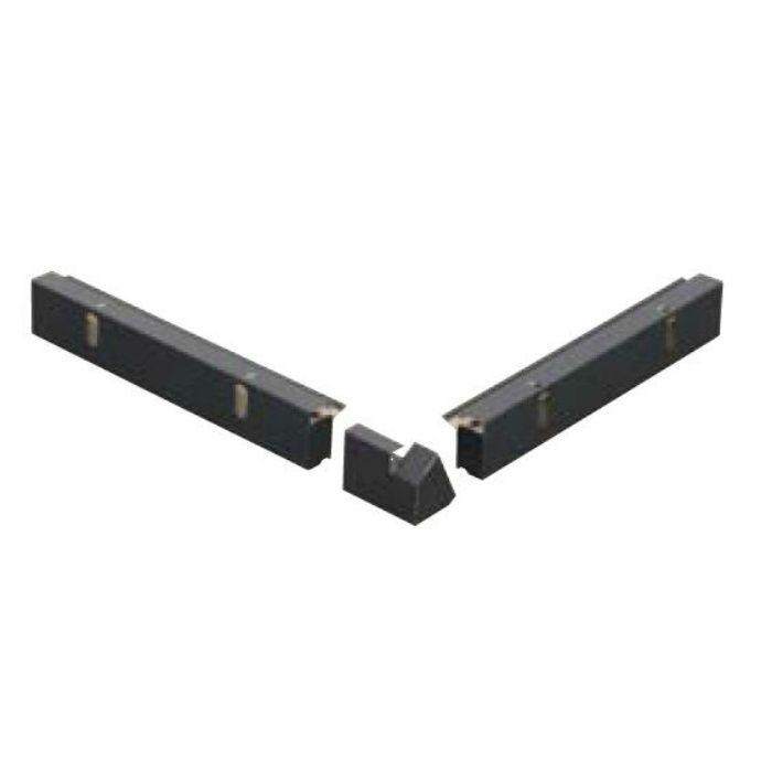 FV-N024FSD-K12DR-SV 軒ゼロ用役物 出隅(12.5寸勾配用、下・右) シルバー