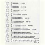 ワンタッチ (大箱) 白 ラッパ 3.5mm×22mm 石膏ボード/軽量鉄骨用