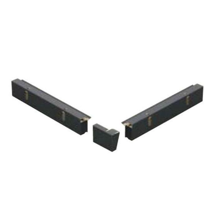 FV-N024FSD-14UL-BK 軒ゼロ用役物 出隅(1~4寸勾配用、上・左) ブラック