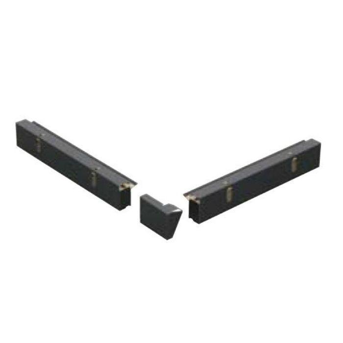 FV-N024FSD-46UL-BK 軒ゼロ用役物 出隅(4~6寸勾配用、上・左) ブラック