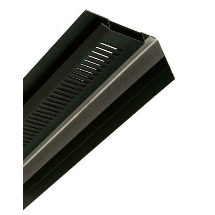 FV-N0618KF-L27-BK 鋼板製 軒天換気材(壁際タイプ) 9尺タイプ ブラック