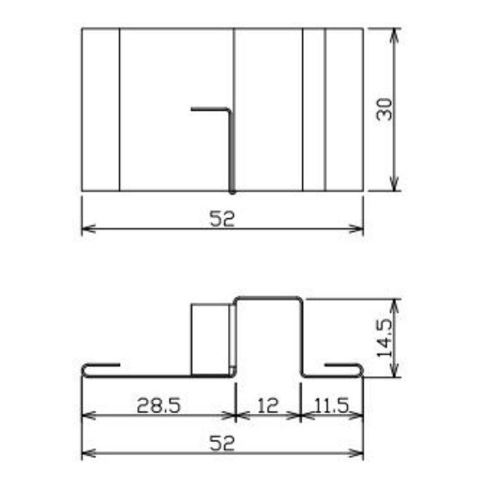 FV-N12W50FJC-WT 軒天換気材(50mmタイプ) ジョイントカバー ホワイト