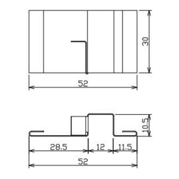 FV-N08W50FJC-AG 軒天換気材(50mmタイプ) ジョイントカバー アンバーグレー