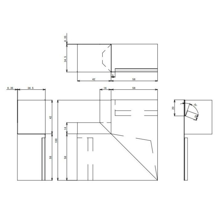 FV-N016FSD-WT 鋼板製 軒天換気材(軒ゼロタイプ) 出隅 ホワイト