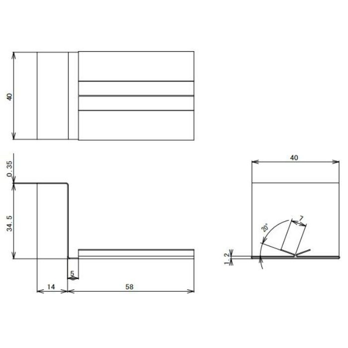 FV-N016FJC-CB 鋼板製 軒天換気材(軒ゼロタイプ) ジョイントカバー シックブラウン