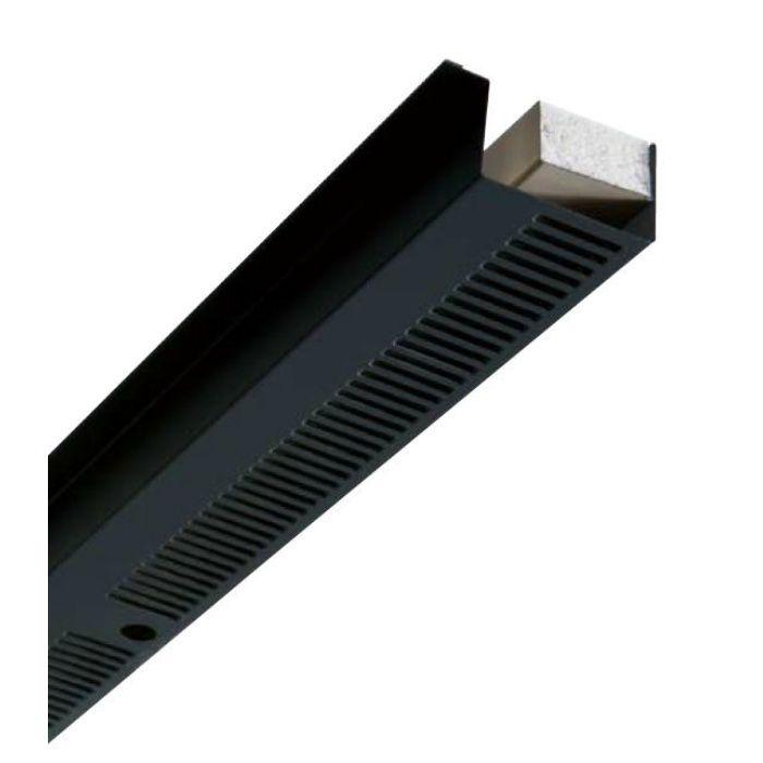FV-N016F-L09-BK 鋼板製 軒天換気材(軒ゼロタイプ) 3尺タイプ ブラック