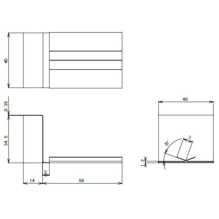 FV-N016FJC-BK 鋼板製 軒天換気材(軒ゼロタイプ) ジョイントカバー ブラック