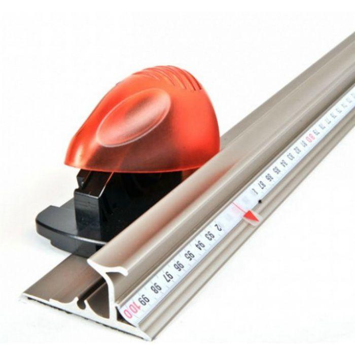 セーフティールーラープラチナ   YT09SRP100 1m  安心安全アルミ定規