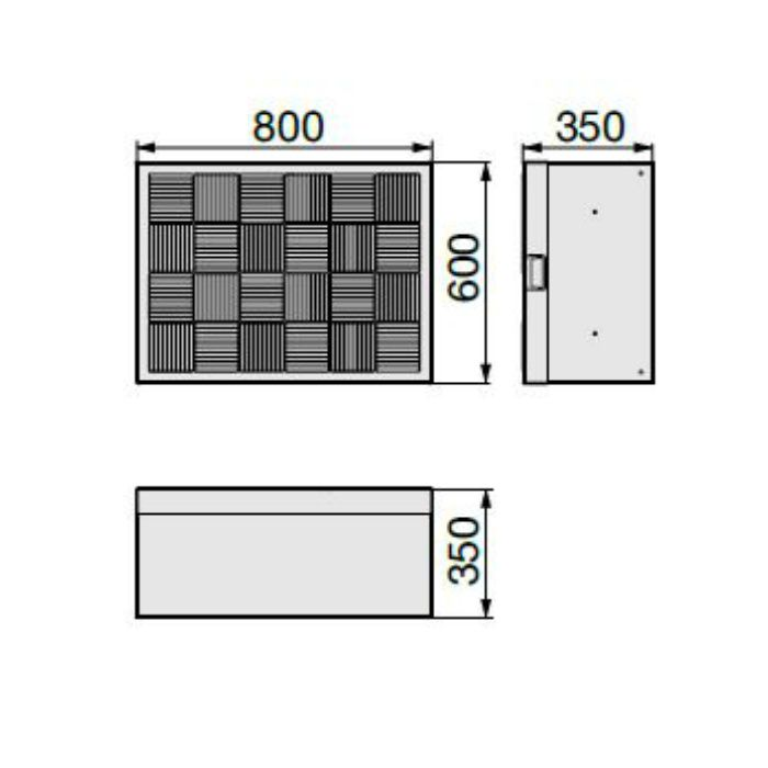 CUB-8060-A2 ハウスステップ ボックスタイプ 小ステップなし・収納庫なし ライトグレー