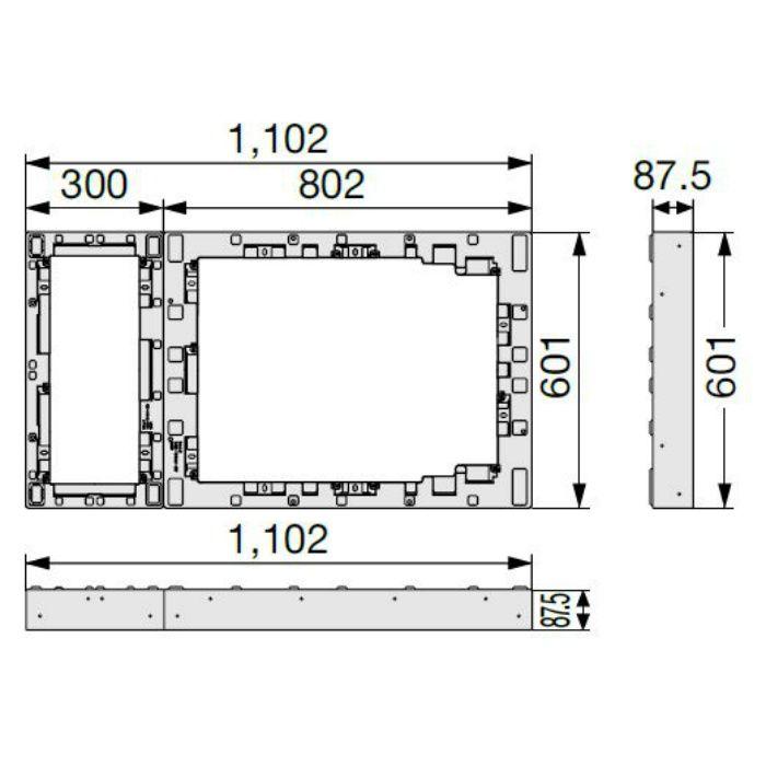 CUB-8060-H1 ハウスステップアジャスター 1段 ライトグレー