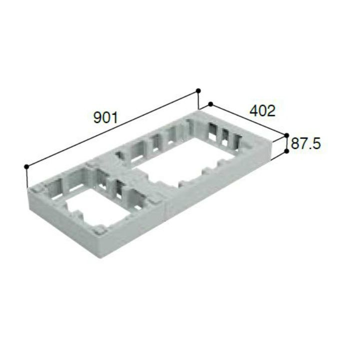 CUB-6040-H1 ハウスステップアジャスター 1段 ライトグレー