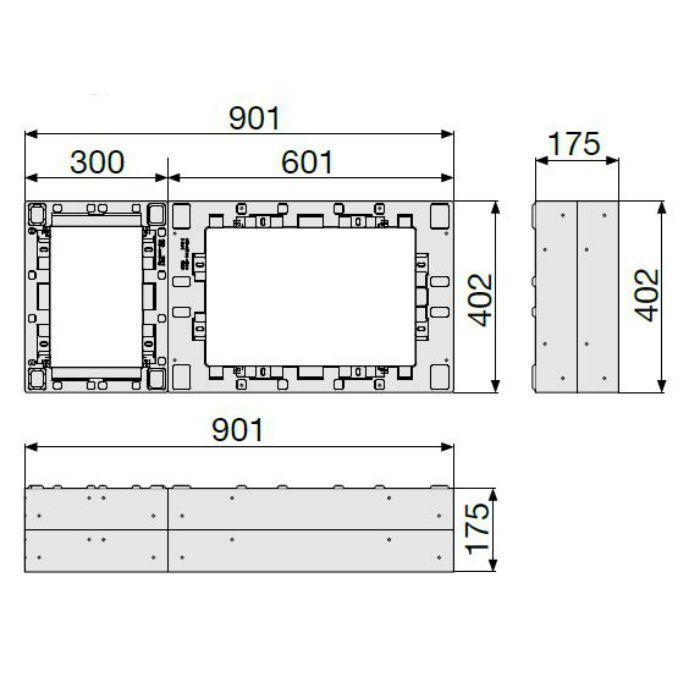 CUB-6040-H2 ハウスステップアジャスター 2段 ライトグレー