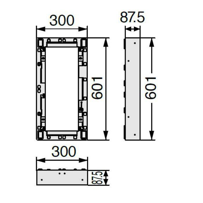 BU-CUB-8060-HB1 小ステップアジャスター 1段 ライトグレー