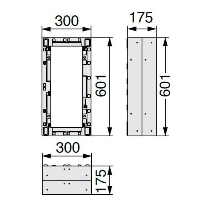 BU-CUB-8060-HB2 小ステップアジャスター 2段 ライトグレー