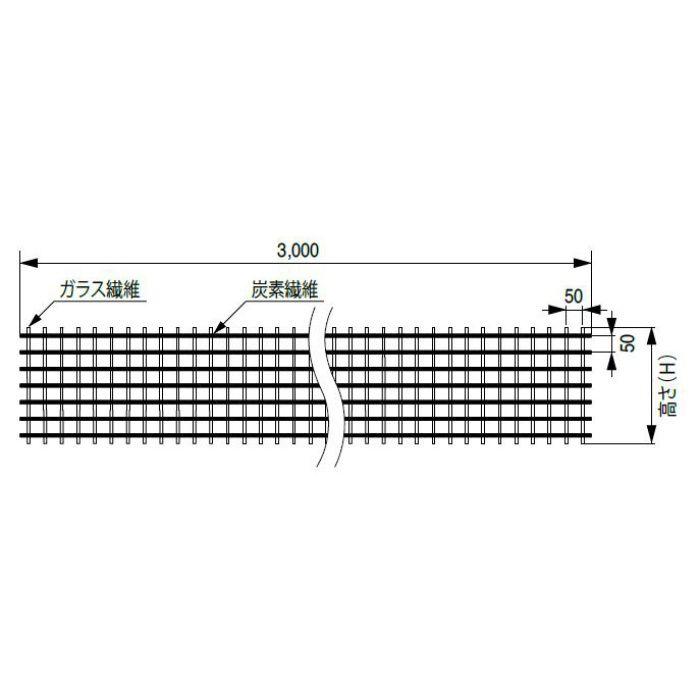 FRP-CGR6-H35-L30 FRPグリッド基礎補強工法部材 FRPグリッド