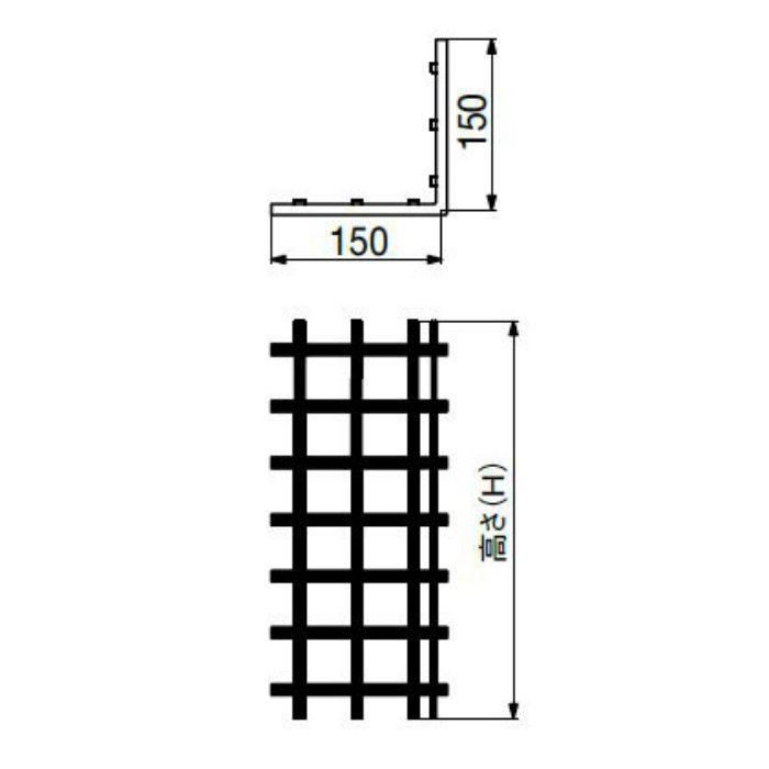 FRP-CGR6SDI-H25 FRPグリッド基礎補強工法部材 コーナー用グリッド