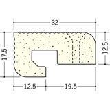 ペンキ・クロス下地材 出隅 ビニール 発泡コーナー12.5mm ミルキー 2.6m  01267