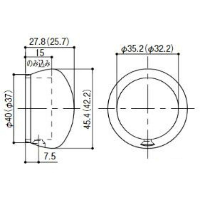 BC-05S BAUHAUS 32エンドキャップ(ブライトシリーズ) シルバー