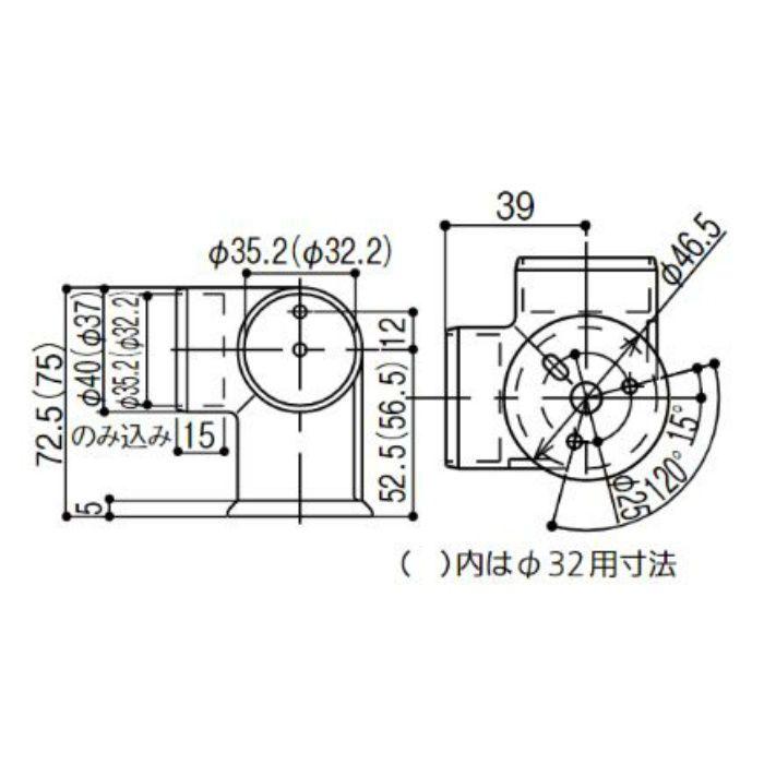 BB-04S BAUHAUS 35コーナーブラケット シルバー