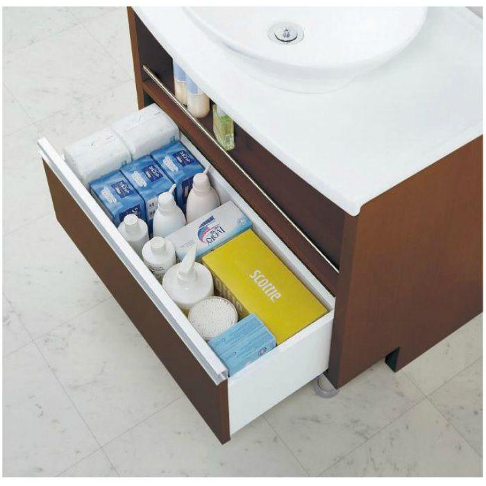 LGA001B 洗面化粧台セット オーラ600 ダークブラウン 一般地仕様