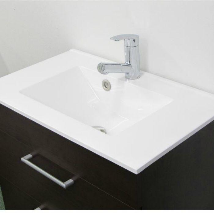 LHA202B 洗面化粧台セット アール750 ダークブラウン 寒冷地仕様