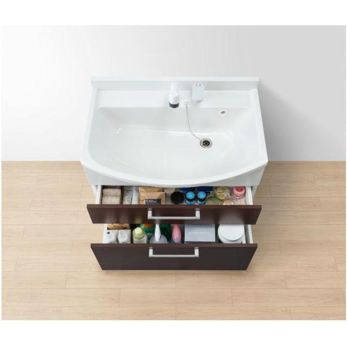 LKAL750AUNJ5SBHD1 洗面化粧台セット アルバ750 ダークブラウン 一般地仕様