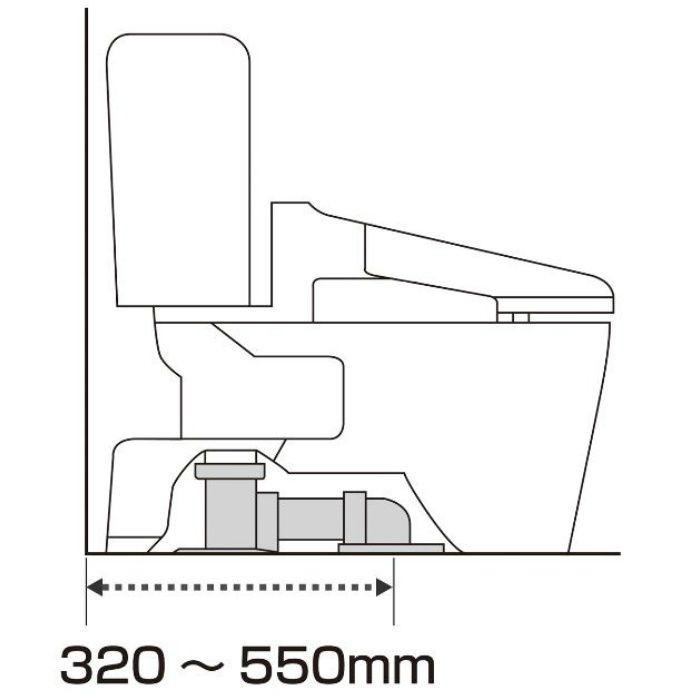 RCA002LW トイレセット エディ566 防露便器 普通便座 手洗無 ラブリーホワイト