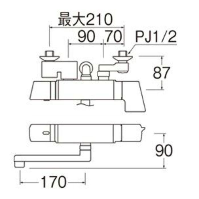 SK18121CTK-13 COULE サーモシャワー混合栓(レイニー付)(寒冷地用)