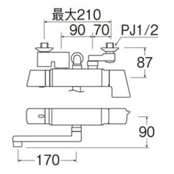 SK18121CT2-13 COULE サーモシャワー混合栓