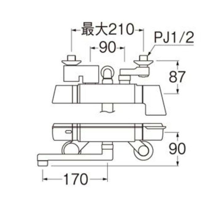 SK18121CTCK-13 COULE サーモシャワー混合栓(レイニー付)(寒冷地用)