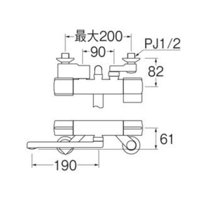 SK18CK-13 サーモシャワー混合栓(寒冷地用)