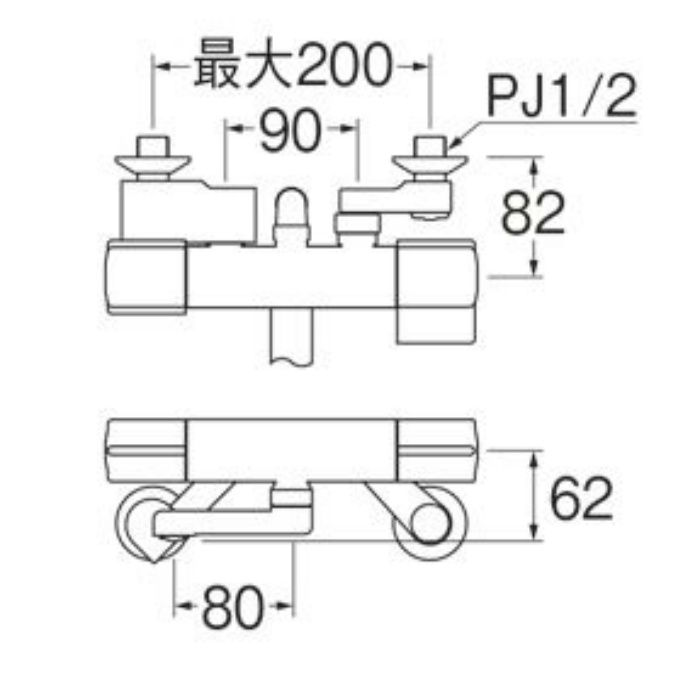 SK18CK-S9L08 サーモシャワー混合栓(寒冷地用)