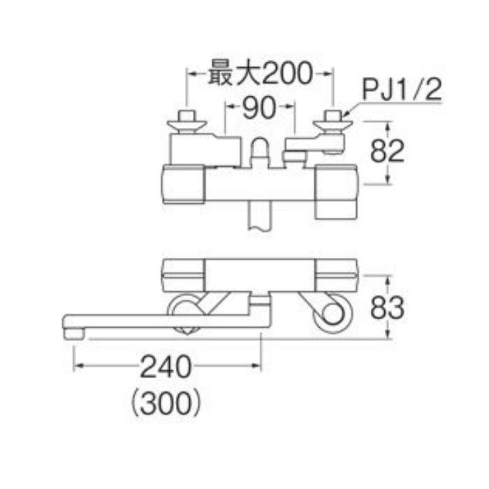 SK18CK-S9L24 サーモシャワー混合栓(寒冷地用)