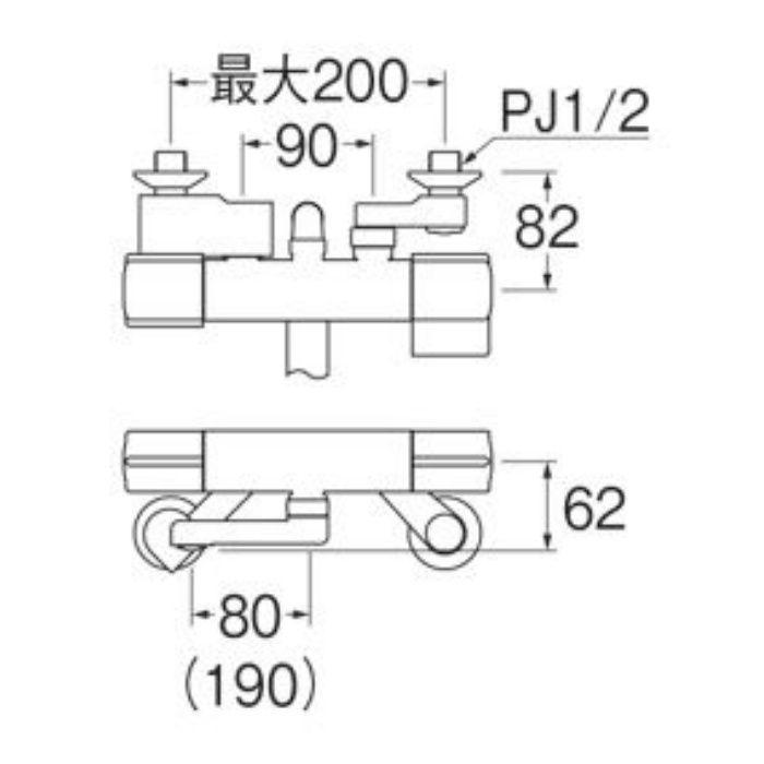 SK18CK-T5L08 サーモシャワー混合栓(寒冷地用)