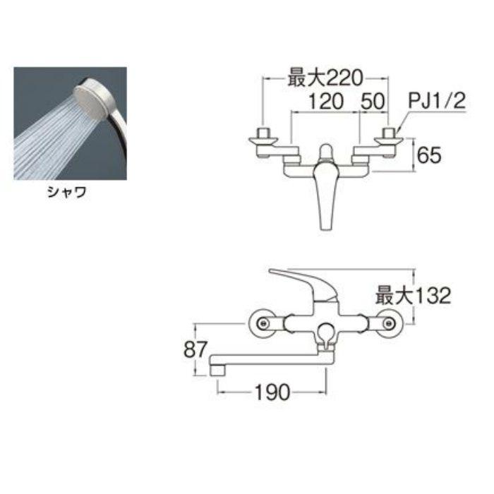 SK170S9-13 U-MIX シングルシャワー混合栓