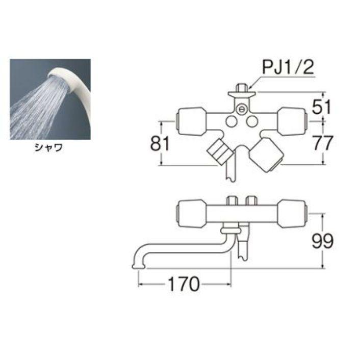 SK1619-13 ソーラシャワー水栓