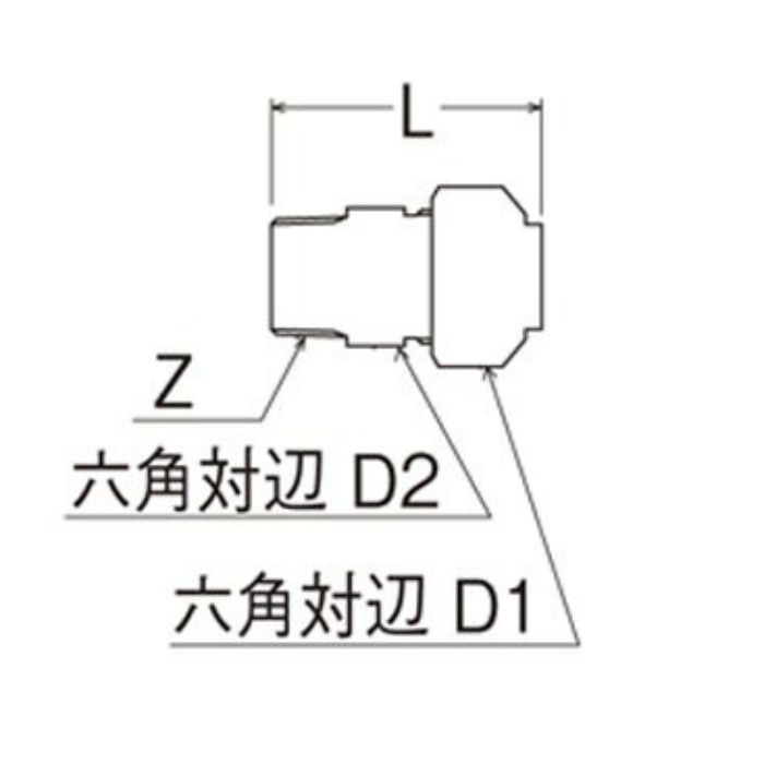 T600N-3-13X16A-S オスアダプター