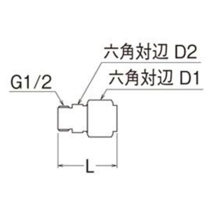 T601N-3-13X10A-S オスアダプター平行